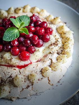 Desserts sucrés et fruits