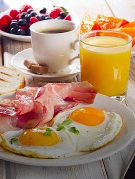 Petit déjeuner au réveil
